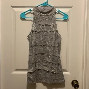 ❤️Maurices Gray Ruffled Top